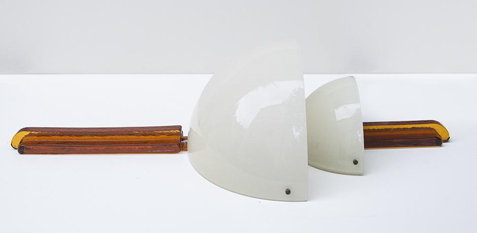Venini-Murano-wandleuchte-weiss-orange-glass