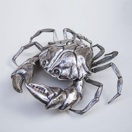 Franco-Lapini-crab-bowl-silver