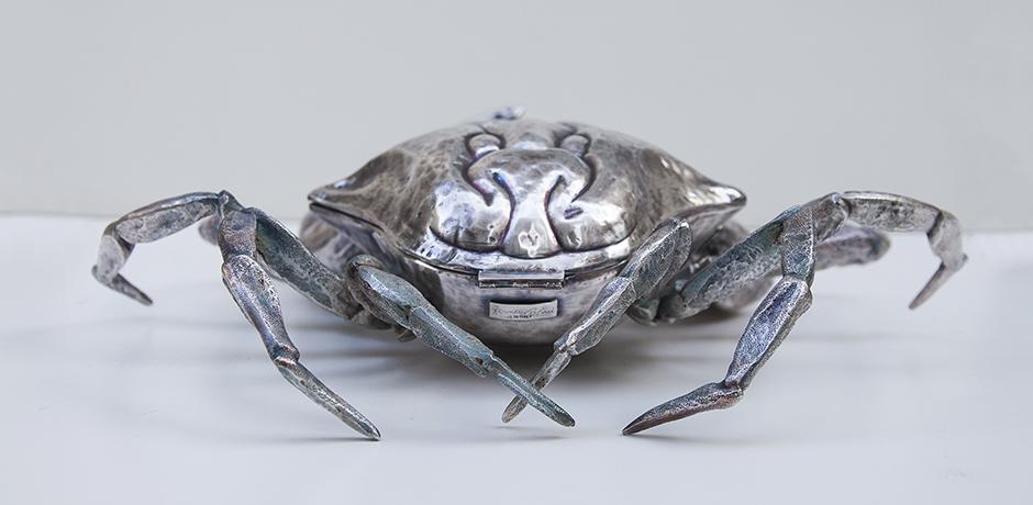 Franco-Lapini-crab-bowl-silver-italy