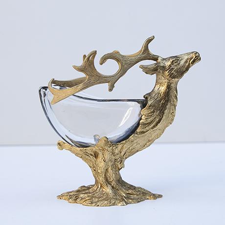 Gabriella-Crespi-deer-bowl-glass-golden