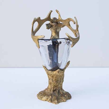 Gabriella-Crespi-deer-bowl-glass-bronze