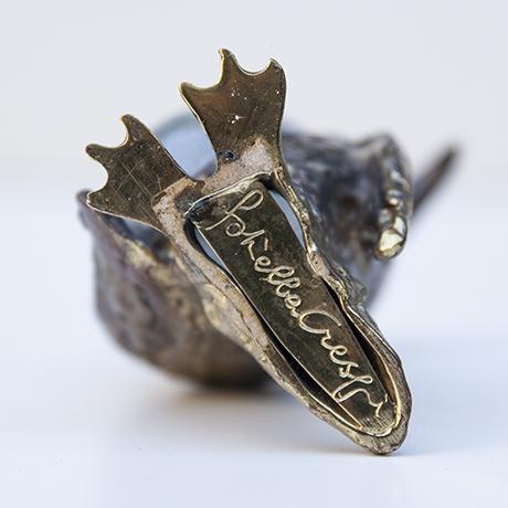 Gabriella-Crespi-penguin-bronze-object-signed