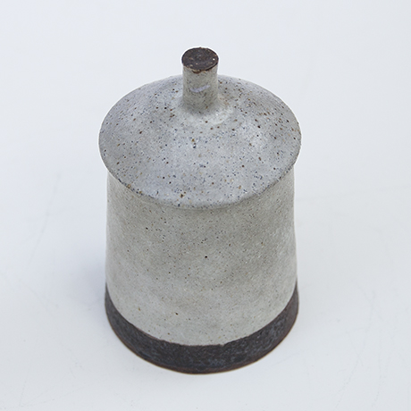 Bruno-Gambone-vase-box-braun-grau-keramik