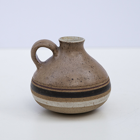 Gambone-ceramic-vase-round-brown