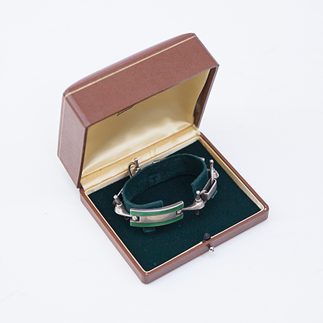 Gucci-gruen-Armband-armreif-silber
