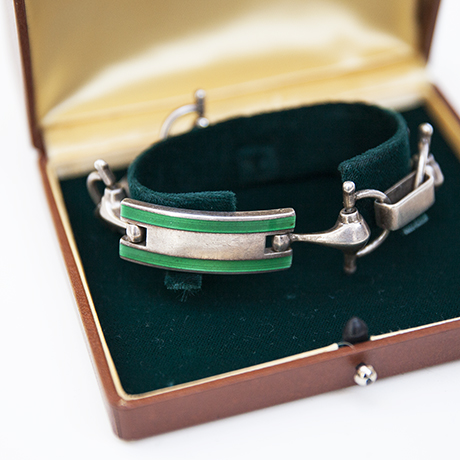 Gucci-bracelet-green-jewellery-silver