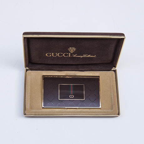 Luxury Vintage Gucci Business Card Holder Box 1970
