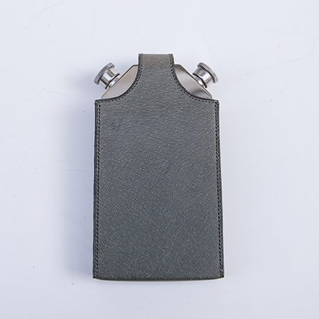 Gucci-hip-flask-leather-green-silver