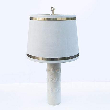 Schlichtes DesignJacques-Adnet-table-lamp-suede_1