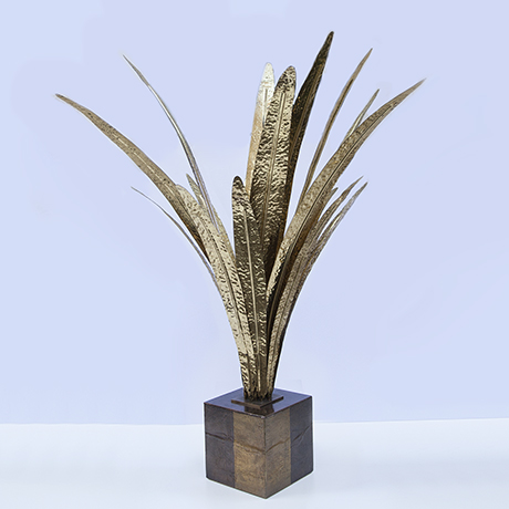 Maison-Jansen-palm-table-lamp-golden