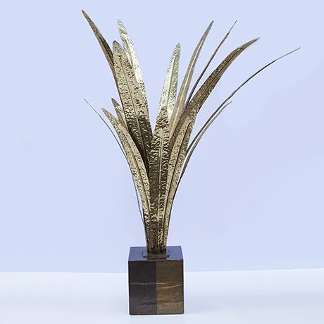 Maison-Jansen-palme-tischlampe-gold-vintage