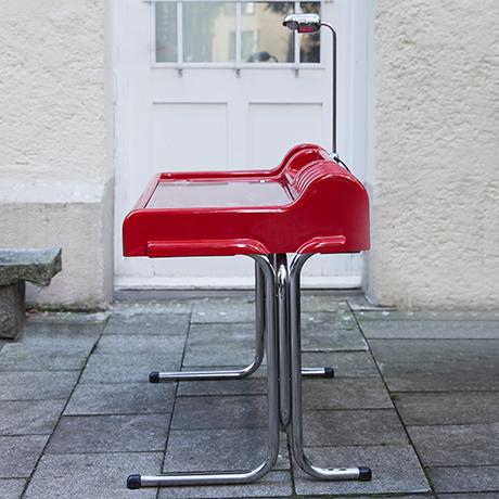 Parigi-Prina-Molteni-orix-desk-red-vintage