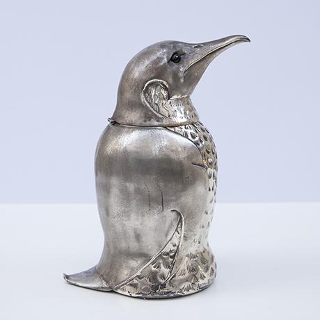 eiswuerfelbehaelter-flaschenkuehler-pinguin-silber