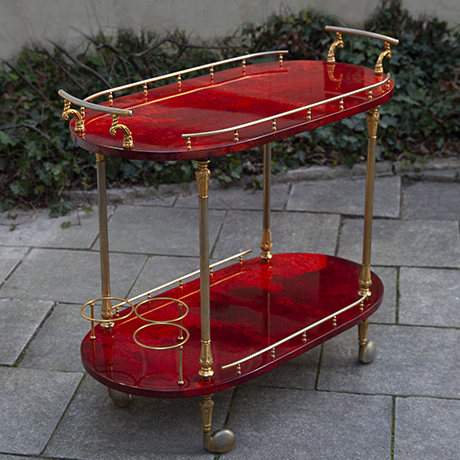Schlichtes DesignAldo-Tura-bar-cart-serving-red