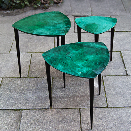 Aldo-Tura-nesting-tables-green-italy