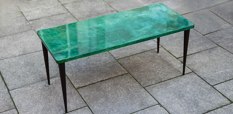 Schlichtes DesignAldo-Tura-side-table-green