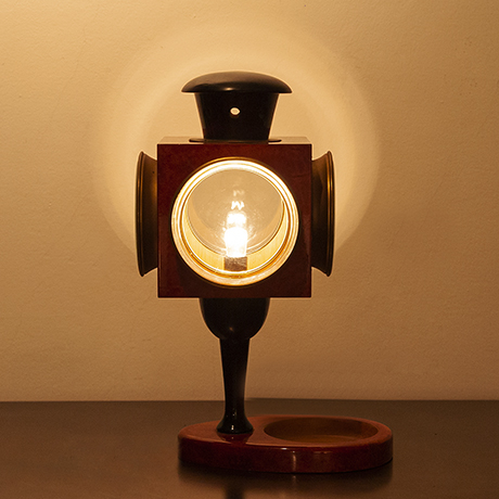 Aldo-Tura-table-lamp-lantern-red
