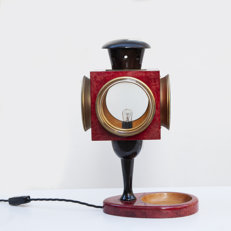 Aldo-Tura-table-lamp-red-vintage