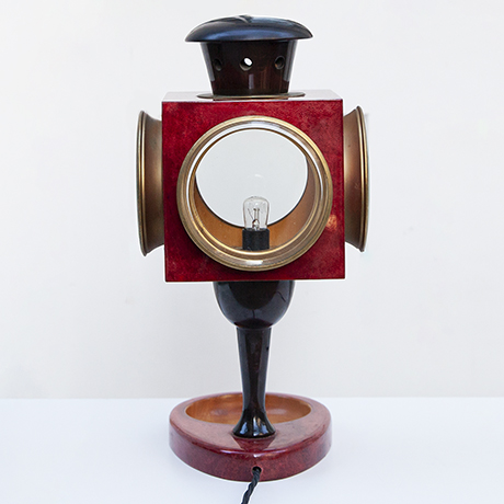 Aldo-Tura-table-lamp-red-italy