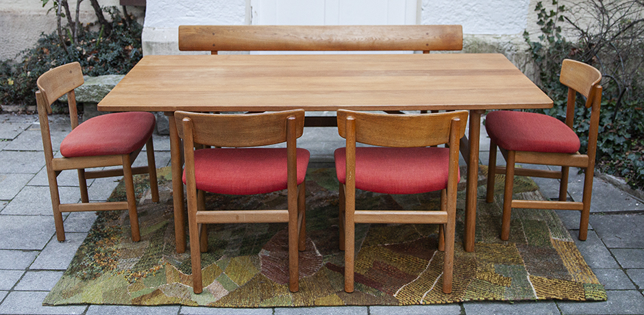 Schlichtes DesignBorge-Mogensen-dinig-table-chairs