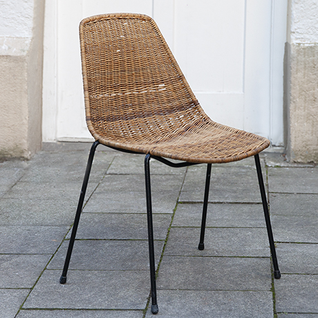 Franco-Legler-basket-chair-stool