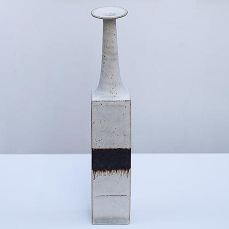 Gambone-keramik-vase-braun-weiss