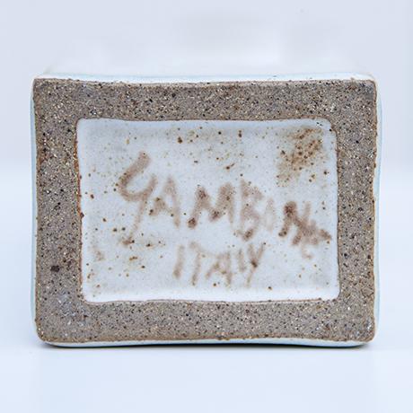 Gambone-ceramic-vase-white-brown-signed