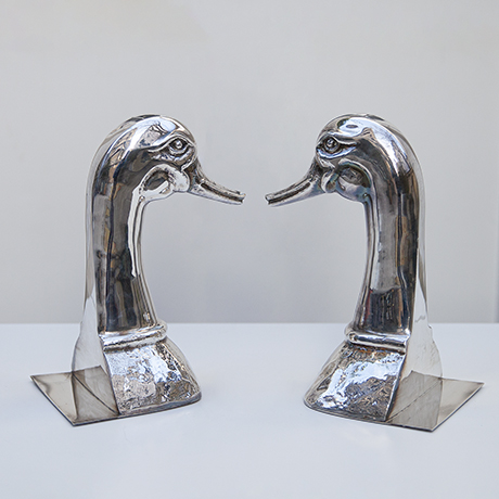 Valenti-ducks-bookends-silver