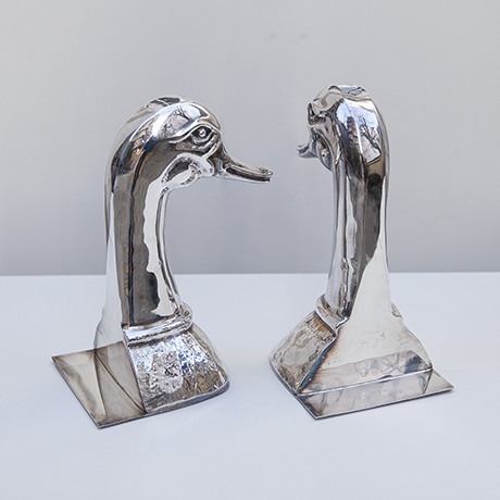 Valenti-duck-book-ends-silver