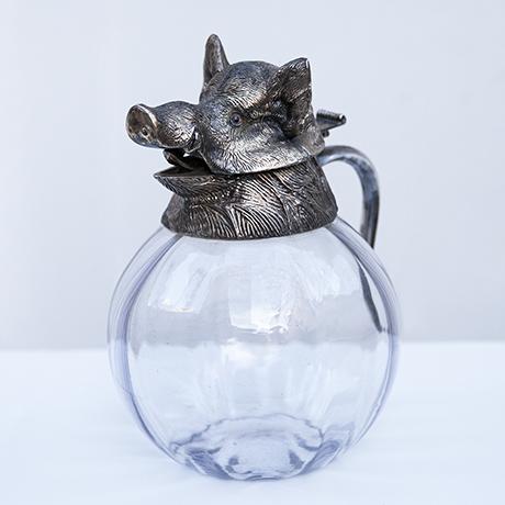 Schlichtes DesignValenti-wild-boar-carafe-silver