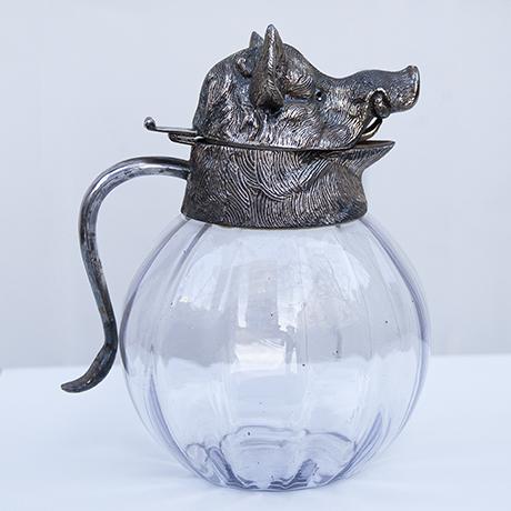 Valenti-wild-boar-carafe-silver