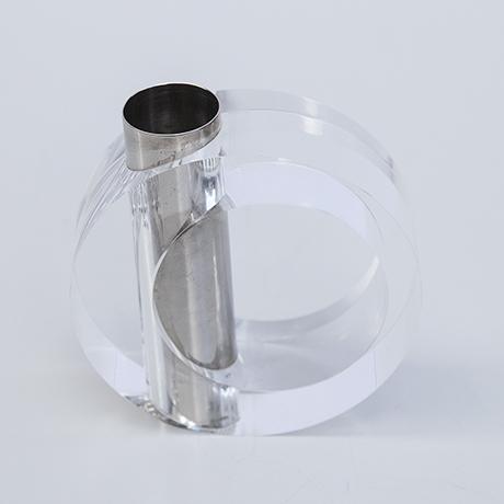 Albrizzi-lucite-bowl-vase-silver