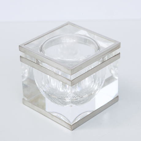 Albrizzi-lucite-bowl-picture-frame-vase-silver