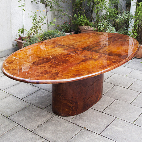 Aldo-Tura-dining-table-tobacco-oval