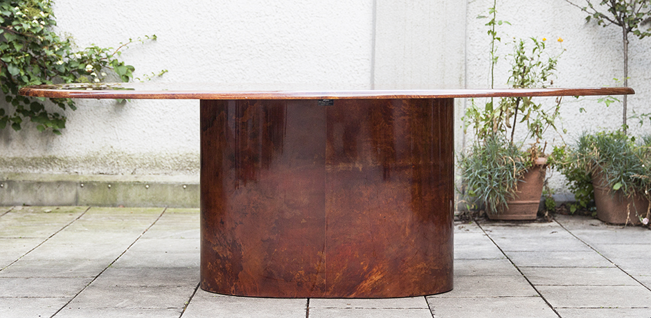 Aldo-Tura-dining-table-tobacco-color