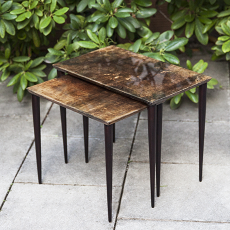 Aldo-Tura-nesting-tables-brown