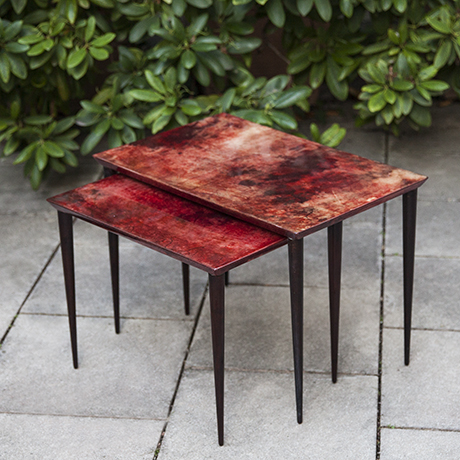 Aldo-Tura-nesting-tables-red