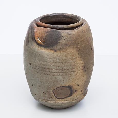 Astoul-keramikvase-vase-braun-brutalist