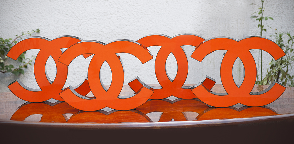 Coco-Chanel-illuminated-letters-orange