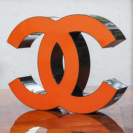 Coco-Chanel-illuminated-letters-orange