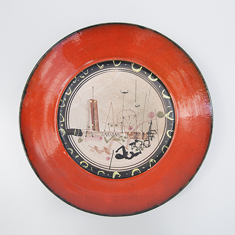 Gilbert-Portanier-plate-red