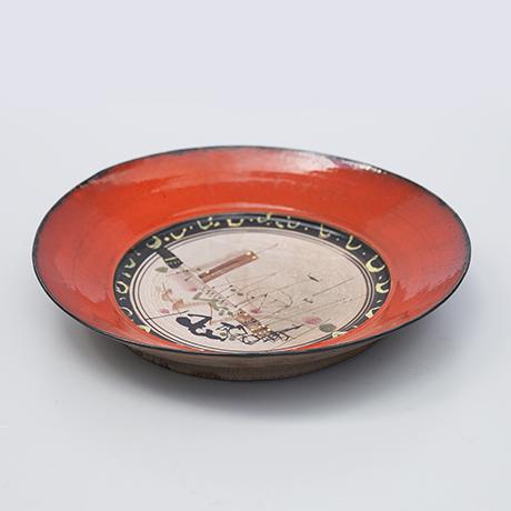 Gilbert-Portanier-keramik-teller-rot