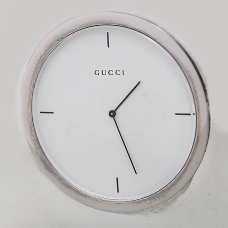 Gucci-table-clock-marked-silver