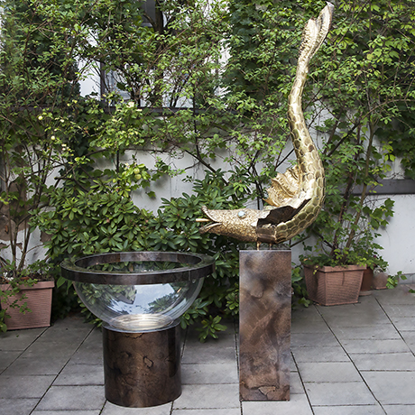 Henri-Fernandez-fish-sculpture-fountain