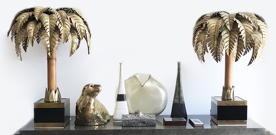 Maison-Jansen-table-lamps-palm-vintage
