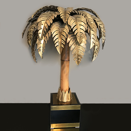 Maison-Jansen-table-lamp-palm-bamboo-brass