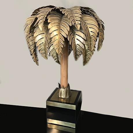Maison-Jansen-Tischlampe-lampe-palme-bambus