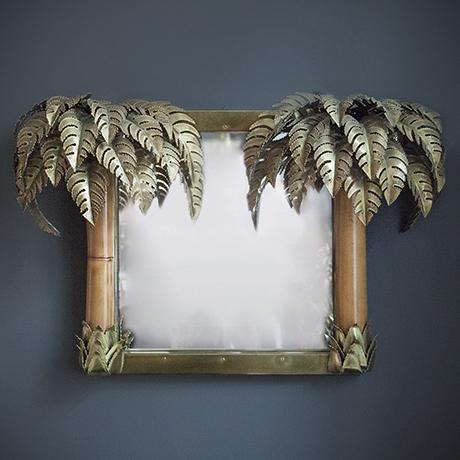 Schlichtes DesignMaison-Jansen-wall-mirror-palm-bamboo