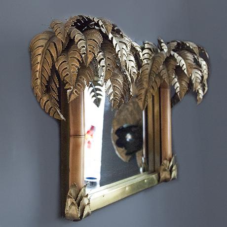 Maison-Jansen-Wandspiegel-spiegel-bambus-palme