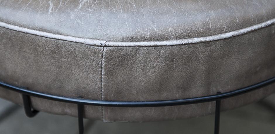 Panton-stool-grey-leather-vintage-danish